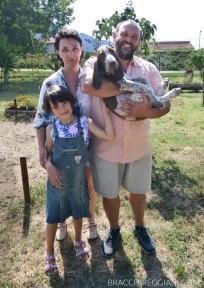 Bradamante con Edilio e la sua famiglia
