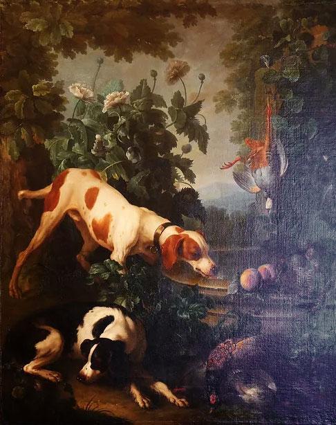 scena-di-caccia-cani-1700